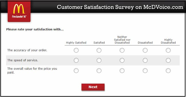 mcdvoice mcdonalds customer satisfaction