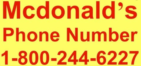 McDonalds phone number